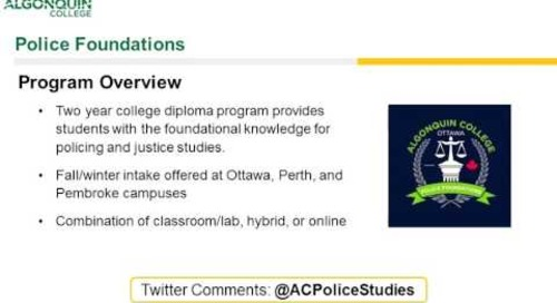 Police Foundations - Webinar