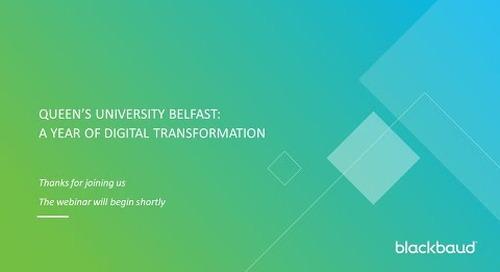 Queen's University Belfast: Digital Transformation in Development & Alumni Relations