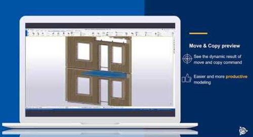 New Copy/Move preview in Tekla Structures 2021