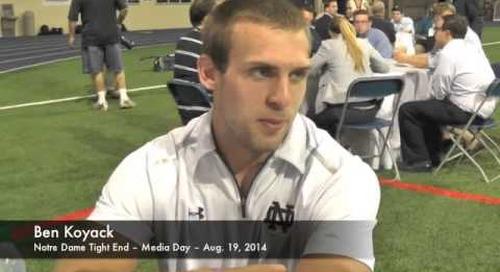 Notre Dame TE Ben Koyack - Media Day 2014