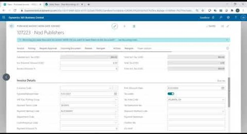 How to Set Up Auto Draft Payments in Dynamics 365 Business Central