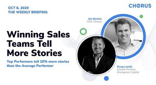 The Weekly Briefing - Winning Sales Teams Tell More Stories