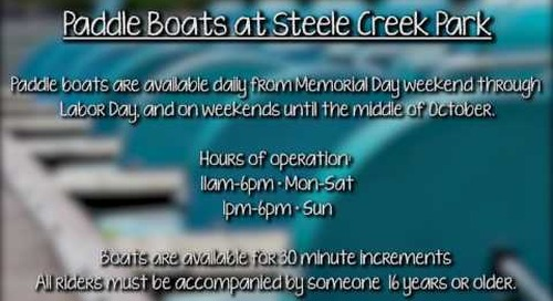 Paddle Boats at Steele Creek Park