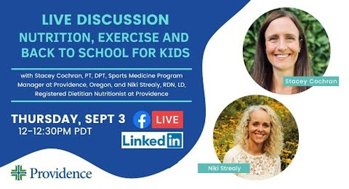 Nutrition, exercise and back to school for kids