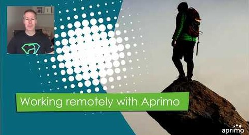 Tips on Working Remotely in Aprimo