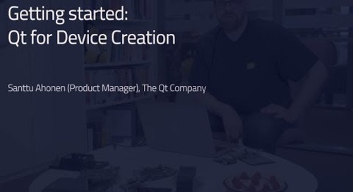 Get Started with Qt for Device Creation