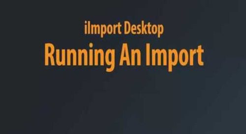 iImport Desktop - Running An Import