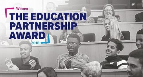 Coventry Building Society win the Education Partnership Award, large company