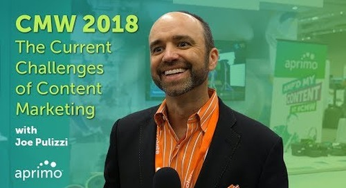 CMW 2018: Current Challenges of Content Marketing with Joe Pulizzi