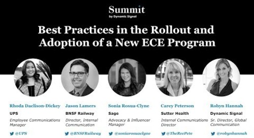 Best Practices in the Rollout and Adoption of a New ECE Program