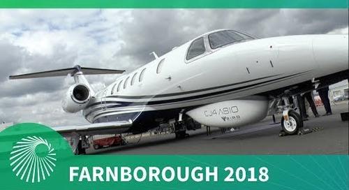 Farnborough 2018: BIRD Aerosystems CJ4 ASIO Special Mission Aircraft