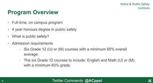 Bachelor of Public Safety Degree - Webinar