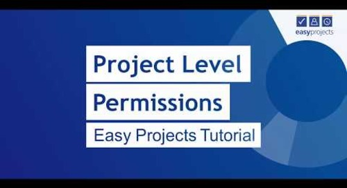 Project Level Permissions - Easy Projects Tutorial
