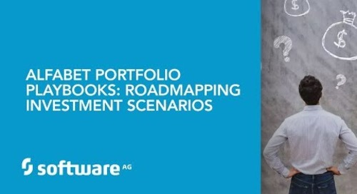 Alfabet Portfolio Playbooks: Roadmapping Investment Scenarios