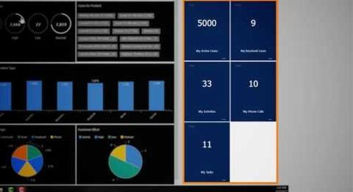 Dynamics 365 for Customer Service - Customized Dashboard