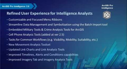 What's New in ArcGIS Pro Intelligence