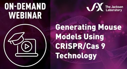 Generating Mouse Models Using CRISPR/Cas9 Technology