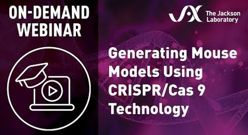 Generating Mouse Models Using CRISPR/Cas9 Technology