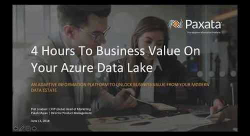 Accelerate Value From Your Azure Data Lake with Self Service Data Prep