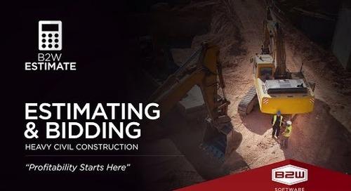 B2W Estimate - Construction Estimator Software - Job Cost Estimating Platform
