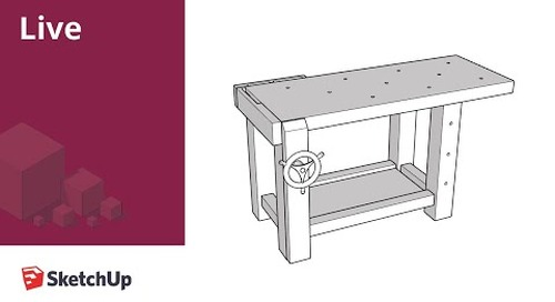 Modeling a workbench and generating plans in SketchUp Live!
