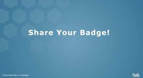 How to Share Your Digital Badge