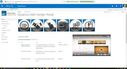 Self-Service Vendor for Dynamics NAV: Part 1 Vendor Portal Demo