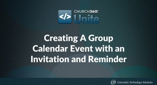 Creating A Group Calendar Event with an Invitation and Reminder