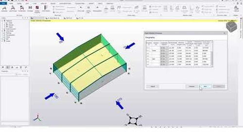 Tekla Structural Designer 2020 - Use Breve data in Wind Wizard to apply auto loading