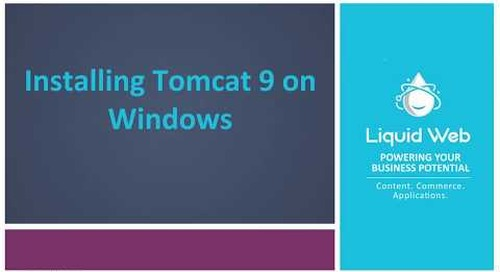 Installing Tomcat 9 on Windows