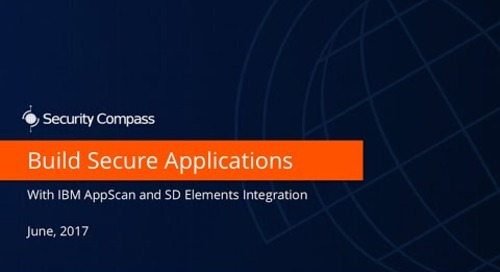Webinar: Build Secure Applications with IBM AppScan and SD Elements Integration