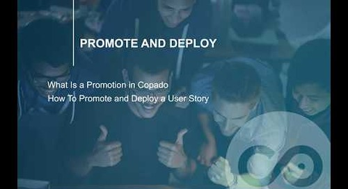How to Promote and Deploy a User Story | Copado