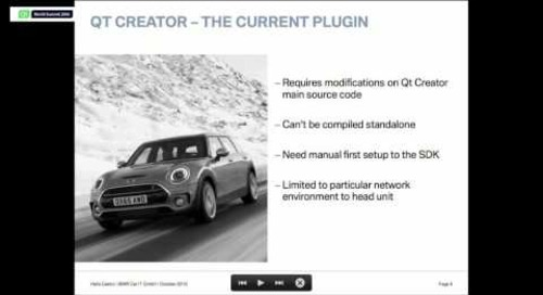 Qt Creator as BMW Car IT Automotive IDE, BMW Car IT