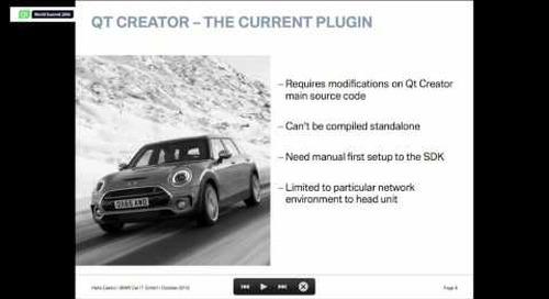 Qt Creator as BMW Car IT Automotive IDE, BMW Car IT