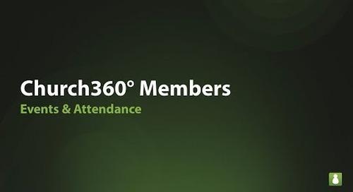 Church360° Members: Events & Attendance