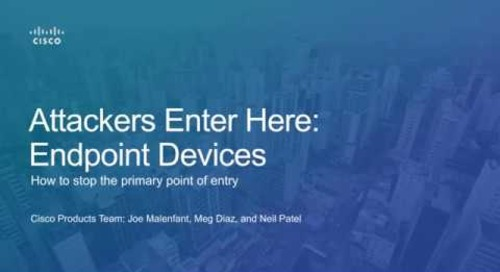 Attackers enter here → endpoint devices