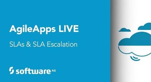 SLAs and SLA escalation with webMethods Dynamic Apps, Agile Edition