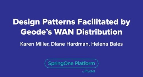 Design Patterns Facilitated by Geode's WAN Distribution