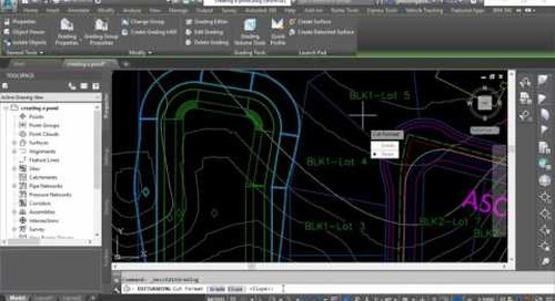 Civil 3D: Creating Ponds using Feature Lines and Grading Objects