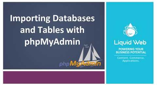 Importing Databases and Tables with PhpMyAdmin