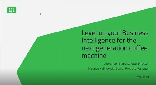 Level up your Business Intelligence for the next generation coffee machine