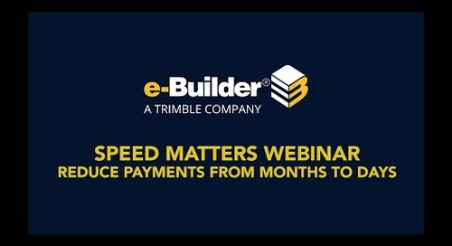 SPEED MATTERS: Reduce Payments from Months to Days
