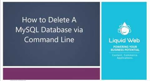 How to Delete A Database In MySQL/MariaDB
