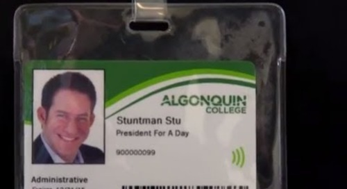 Algonquin College President for a Day - Stuntman Stu