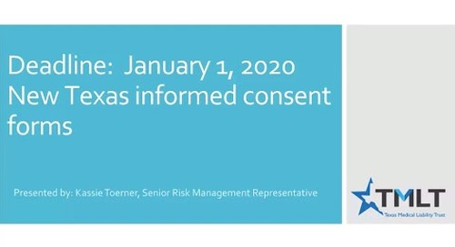New Texas informed consent forms 2020