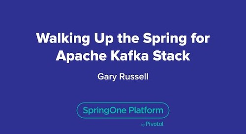 Walking up the Spring for Apache Kafka Stack
