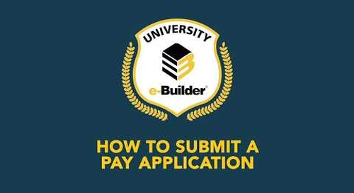 Training Videos On-Demand: How to Submit a Pay Application
