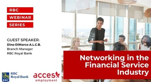 Networking in the Financial Service Industry