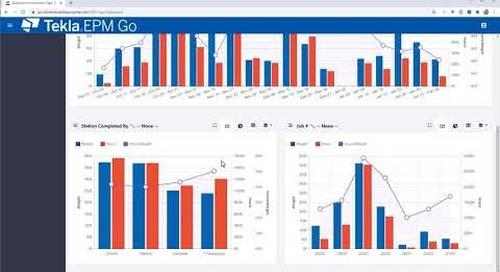 New Dashboard Reporting in Tekla EPM Go 2021