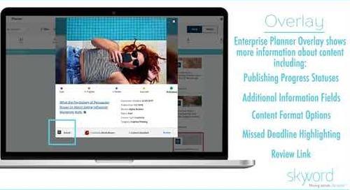 Skyword Update: Enterprise Planner for Clients